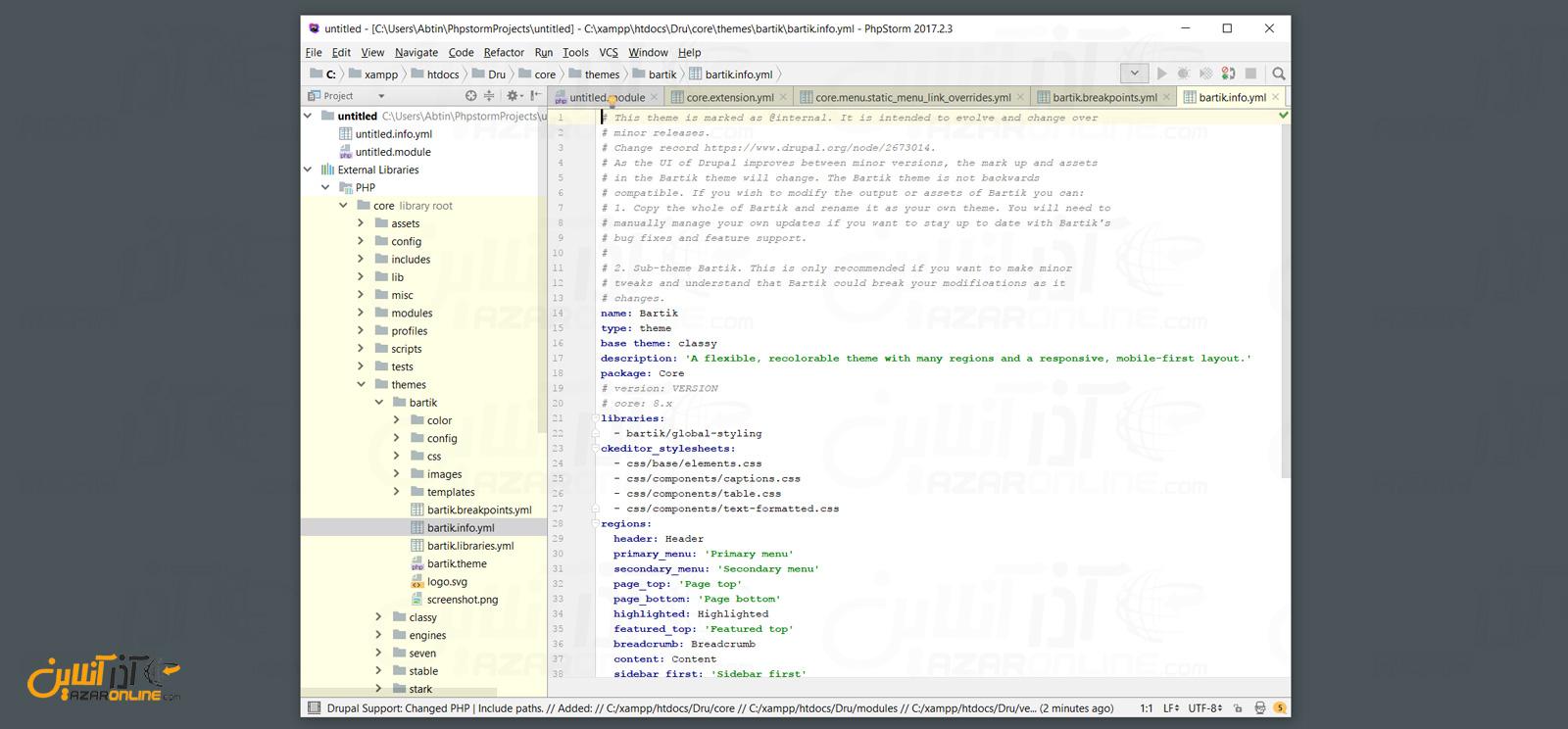 باز شدن ماژول و فایل های دروپال در phpstorm