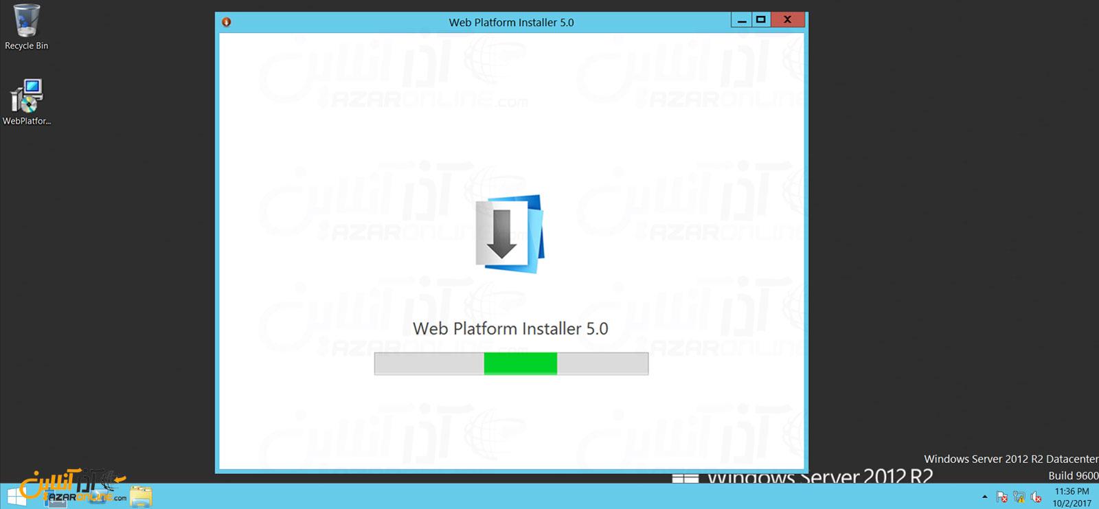 اجرای web platform installer برای نصب php بر روی iis