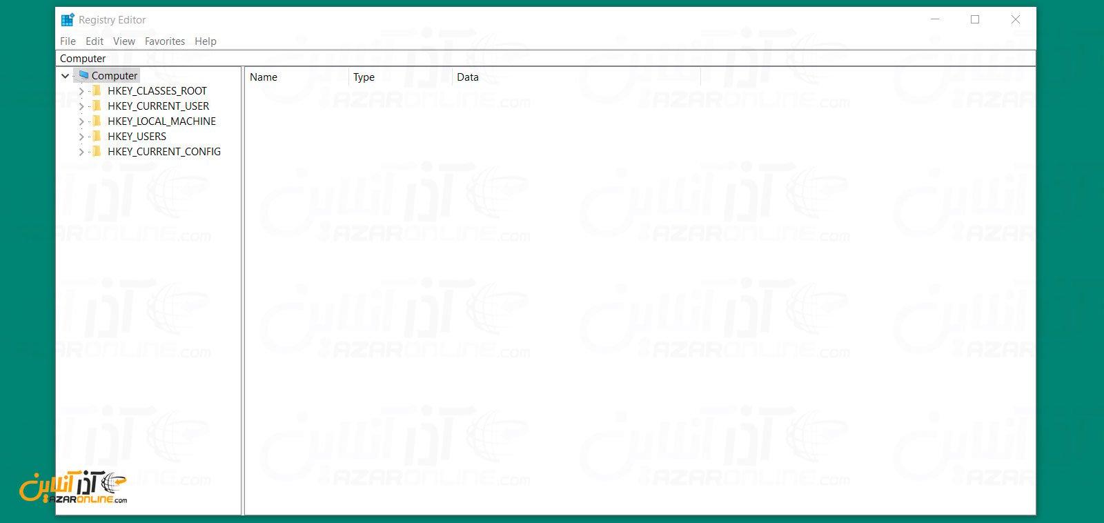 صفحه registry